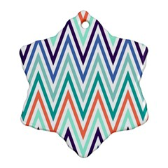 Chevrons Colourful Background Ornament (Snowflake)