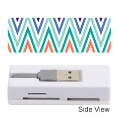 Chevrons Colourful Background Memory Card Reader (Stick)