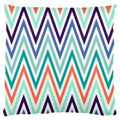 Chevrons Colourful Background Large Cushion Case (Two Sides)