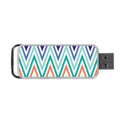 Chevrons Colourful Background Portable USB Flash (One Side)