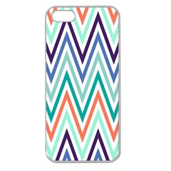 Chevrons Colourful Background Apple Seamless iPhone 5 Case (Clear)