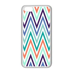 Chevrons Colourful Background Apple iPhone 5C Seamless Case (White)