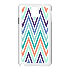 Chevrons Colourful Background Samsung Galaxy Note 3 N9005 Case (White)