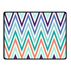 Chevrons Colourful Background Double Sided Fleece Blanket (Small)