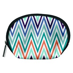Chevrons Colourful Background Accessory Pouches (Medium)