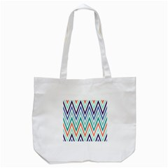 Chevrons Colourful Background Tote Bag (White)