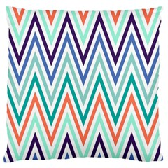 Chevrons Colourful Background Standard Flano Cushion Case (One Side)