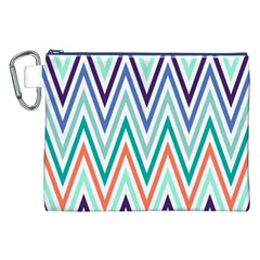 Chevrons Colourful Background Canvas Cosmetic Bag (XXL)