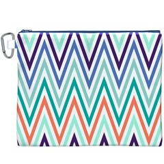 Chevrons Colourful Background Canvas Cosmetic Bag (XXXL)