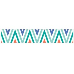 Chevrons Colourful Background Flano Scarf (Large)