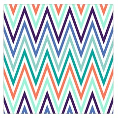 Chevrons Colourful Background Large Satin Scarf (Square)