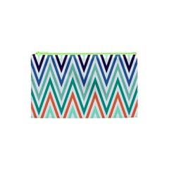 Chevrons Colourful Background Cosmetic Bag (XS)