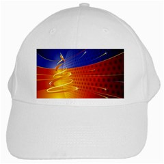 Christmas Abstract White Cap