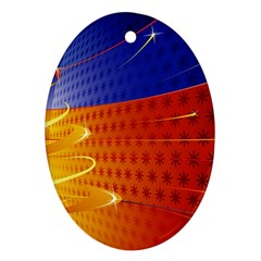 Christmas Abstract Ornament (Oval)