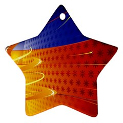 Christmas Abstract Ornament (Star)