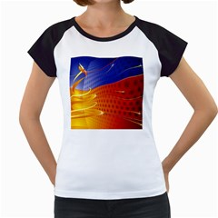 Christmas Abstract Women s Cap Sleeve T