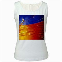 Christmas Abstract Women s White Tank Top