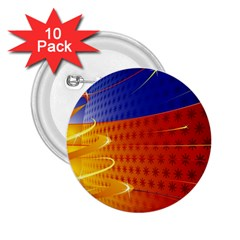Christmas Abstract 2.25  Buttons (10 pack)