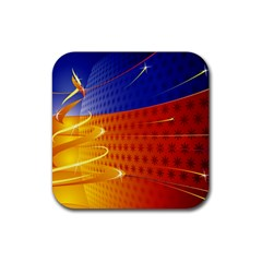 Christmas Abstract Rubber Coaster (Square)