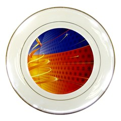 Christmas Abstract Porcelain Plates