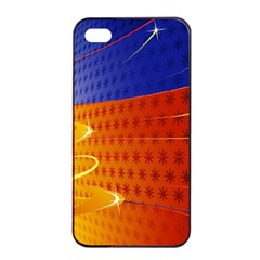 Christmas Abstract Apple iPhone 4/4s Seamless Case (Black)