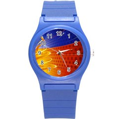 Christmas Abstract Round Plastic Sport Watch (S)