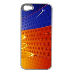 Christmas Abstract Apple iPhone 5 Case (Silver)
