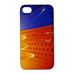 Christmas Abstract Apple iPhone 4/4S Hardshell Case with Stand