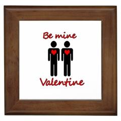 Be mine Valentine Framed Tiles