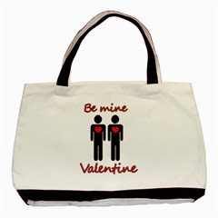 Be mine Valentine Basic Tote Bag (Two Sides)