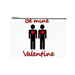 Be mine Valentine Cosmetic Bag (Large)