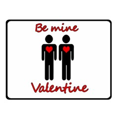 Be mine Valentine Double Sided Fleece Blanket (Small)