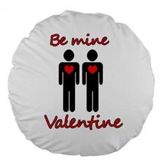 Be mine Valentine Large 18  Premium Flano Round Cushions