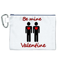 Be mine Valentine Canvas Cosmetic Bag (XL)