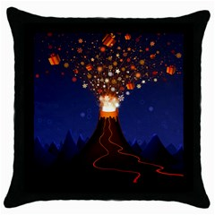 Christmas Volcano Throw Pillow Case (Black)
