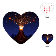 Christmas Volcano Playing Cards (Heart)