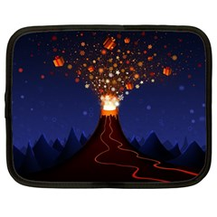 Christmas Volcano Netbook Case (Large)