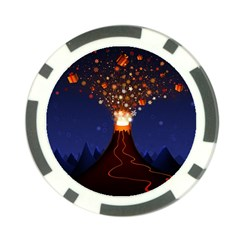 Christmas Volcano Poker Chip Card Guards (10 pack)