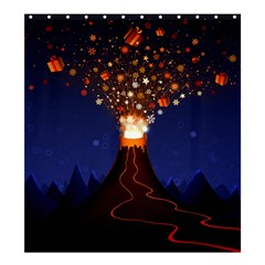 Christmas Volcano Shower Curtain 66  x 72  (Large)