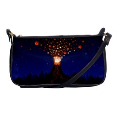 Christmas Volcano Shoulder Clutch Bags