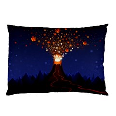 Christmas Volcano Pillow Case (Two Sides)