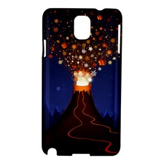 Christmas Volcano Samsung Galaxy Note 3 N9005 Hardshell Case