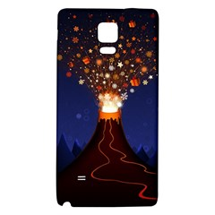 Christmas Volcano Galaxy Note 4 Back Case