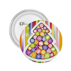 Christmas Tree Colorful 2.25  Buttons