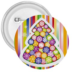 Christmas Tree Colorful 3  Buttons