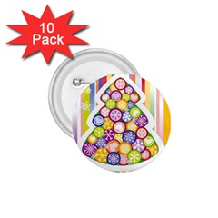 Christmas Tree Colorful 1.75  Buttons (10 pack)