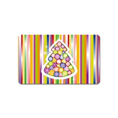 Christmas Tree Colorful Magnet (Name Card)