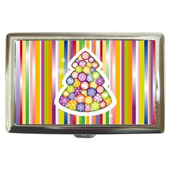 Christmas Tree Colorful Cigarette Money Cases