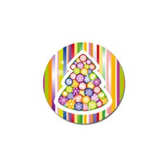 Christmas Tree Colorful Golf Ball Marker (4 pack)