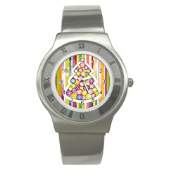 Christmas Tree Colorful Stainless Steel Watch